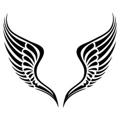 Image detail for -Tribal Angel Wings Wall Art Sticker Wall Mural Wall Decal DIY Deco . Tribal Tattoos, Tattoos Skull, Body Art Tattoos, Wing Tattoos, Angel Wings Clip Art, Angel Wings Drawing, Halo Drawings, Tattoo Grafik, Tribal Wings