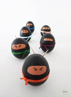 DIY Ninja Easter EggsMake These Eggs With Materials You Probably Already Have