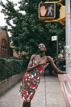 Beloved, star model Adut Akech is on a roll so intense, we had all better get out of her way. George Cortina styles Adut in 'Best of Spring', shot in Brooklyn by Cass Bird for WSJ Magazine February Makeup by Frank B; hair by Tamara McNaughton Wsj Magazine, Magazine Covers, Saint Laurent Dress, Bright Dress, African Models, Dark Skin Girls, Vogue Spain, Vogue Us, Street Style