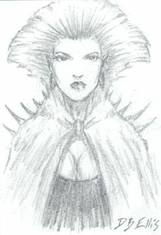 LADY ANIRUL original sci fi art, ACEO, original DUNE art