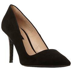 Buy Dune Black Azra Toe Point Stiletto Court Shoes Online at johnlewis.com