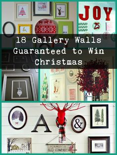 Be the envy at your next crazy family Christmas dinner when you win the holiday with your super smart and oh-so-stylish Christmas Themed Gallery Wall.