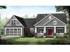 Craftsman House Plan with 2199 Square Feet and 4 Bedrooms from Dream Home Source | House Plan Code DHSW67708