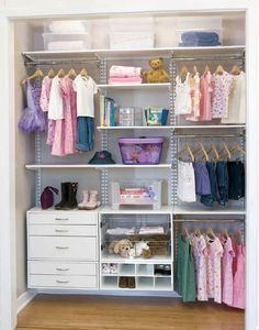 Question: We are living in a small house and want to move baby into her own room. Because we lack storage closets, half of the closet in the baby's room …