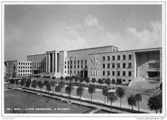 Regia Città Universitaria - Il Rettorato (inaugurato da poco) Bauhaus, Art Deco, Bed And Breakfast, Old Photos, Milan, Louvre, Street View, Building, Travel