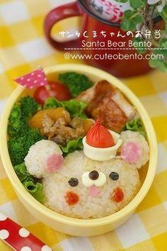 Santa Bear Bento