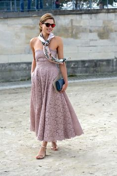 """257d1cd61d the-street-muse  """" Jessica Hart was breath-taking at Jardin des Tuileries  in September swearing a delicate Valentino gown. Recreate Jessica s look on  any ..."""