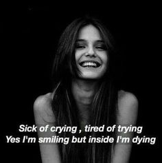 sick of crying
