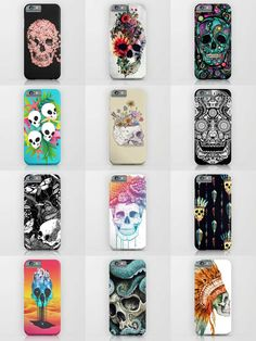Society6 Skull Phone Cases - Society6 is home to hundreds of thousands of artists from around the globe, uploading and selling their original works as 30+ premium consumer goods from Art Prints to Throw Blankets. They create, we produce and fulfill, and every purchase pays an artist.