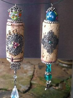 Cork tassels or something not quite so elaborate to use as fan light pulls.