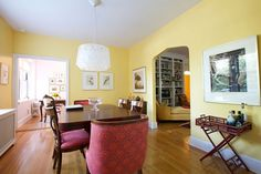 Paint Color Portfolio: Pale Yellow Dining Rooms