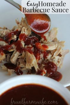 This easy homemade barbecue sauce is amazing! We've been using it on barbecued chicken and turkey. So delicious without the yucky chemicals!