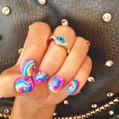 I would do 2 nails with this design and the rest a solid color. Like orange! Great for spring time.