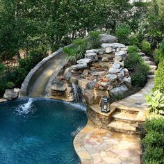 Every person enjoys high-end pool styles, aren't they? Right here are some top list of luxury swimming pool photo for your motivation. These dreamy swimming pool design concepts will transform your backyard right into an exterior oasis. Backyard Pool Designs, Swimming Pools Backyard, Swimming Pool Designs, Backyard Landscaping, Landscaping Ideas, Backyard With Pool, Diy Pool, Water Slides Backyard, Infinity Pool Backyard