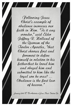 January 2015 Visiting Teaching Handout: The Attributes of Jesus Christ: Obedient Son