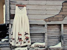 Hand Painted Deer Dress. $55.50, via Etsy.