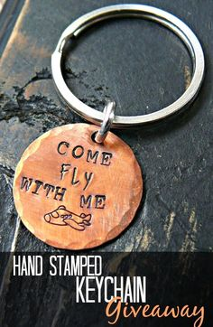 Hand Stamped Airplane Keychain Giveaway