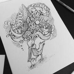 Nature v Nature // #shrooms // #bird // #drawing // #Illustration // #artwork // #psychedelic // #surrealism // #trippy // #mushroom // #penandink // #ink //