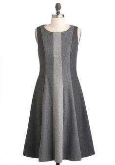 ModCloth - Lesson in Greyscale Dress