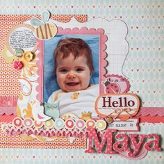 Ideas for using Juvenile Print Patterns on Scrapbook Layouts | Michelle Houghton | Get It Scrapped | Marie-Pierre Capistran | Get It Scrapped