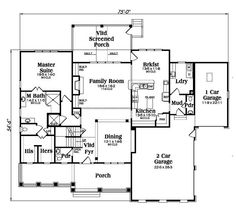 Craftsman Style House Plan - 3 Beds 3.5 Baths 3307 Sq/Ft Plan #419-267 Main Floor Plan - Houseplans.com