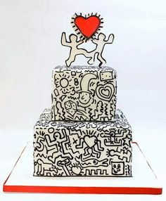 Keith Haring inspired cake LOVE!!!!!!!