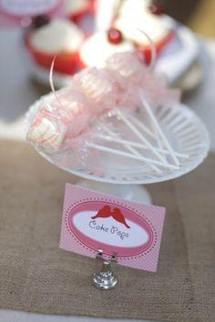 Pink Valentines Day Wedding Dessert Cake Pops