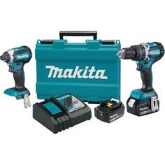 Makita 18-Volt LXT Lithium-Ion Brushless Cordless Hammer Drill and Impact Driver Combo Kit (2-Tool) w/ (2) 4Ah Batteries, Case-XT269M - The Home Depot
