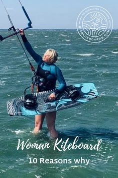 Why have a kiteboard developed specifically for women?We, women, are   lighter and shorter than guys in general. Have a kiteboard developed   especially for women means to have its technical parameters adjusted to   our physical differences? Thanks to that we can enjoy our kiting   sessions much longer, and with ease. Therefore, progress faster and have   more fun. #kiteboarding #kitesurfing #kiteboard #kitegirl Kite Board, Snowboard Girl, Girls Football Boots, Ocean Quotes, Sailing Outfit, Skateboard Girl, Burton Snowboards, Surf Girls, Water Sports