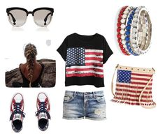 """""""Happy 4th of July"""" by star63509 ❤ liked on Polyvore featuring Chicnova Fashion, Converse, Christian Dior, Red Camel and TWIG & ARROW"""