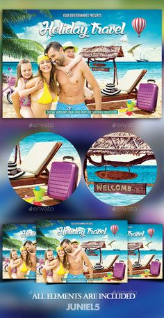 Holiday Travel Flyer Template PSD. Download here: http://graphicriver.net/item/holiday-travel/16539122?ref=ksioks