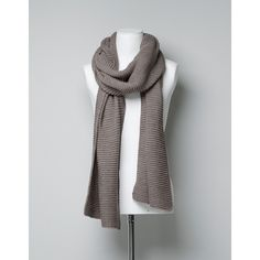 Zara Basic Knitted Scarf (15 CAD) found on Polyvore