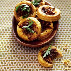 biltong and pear tartlets