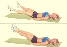 Lie on your back, stretch the legs in straight up position. Draw the heels near and move the fingertips away after. Bend your knees slowly before straightening them by tensing the muscles. Do 3 cycles of 10 exercises. Take a minute's break between these cycles.