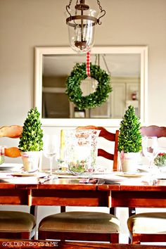 Holiday home tour featuring traditional Christmas family room with stone fireplace and Christmas kitchen with farmhouse sink. Christmas Living Rooms, Christmas Kitchen, Christmas And New Year, Christmas Holidays, Christmas Decorations, Happy Holidays, Preserved Boxwood, Christmas Feeling, Christmas Activities