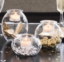 NIB PartyLite Clearly Creative Eclectic Votive Trio Glass Candle Holder
