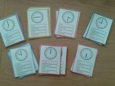 Kwartet klokkijken met analoge tijden. Interesse, stuur een berichtje via mijn yurlspagina. Math Clock, Numicon, Busy Boxes, Speech Therapy, Homeschool, Teacher, How To Plan, Education, Learning