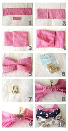 make your own bow ties (or hair bows with some alterations)