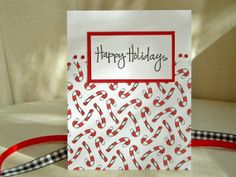 Candy Cane Christmas Card Set Cute Candy Cane by ThePaperMenagerie, $21.00