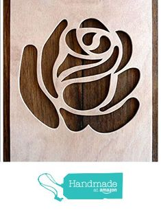 "Beautiful Large Sized Hand Crafted MDF 'Decorative Rose Design' Drawing Template / Stencil (Style 2) - Size: 12"" x 8.5"" Overall (30cm x 21cm) from The Andromeda Print Emporium https://www.amazon.co.uk/dp/B01KC59X8W/ref=hnd_sw_r_pi_dp_UwURxbY5NQMQM #handmadeatamazon"