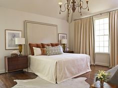 Traditional and Timeless Bedroom http://www.hgtv.com/bedrooms/tips-for-a-clutter-free-bedroom-nightstand/pictures/page-12.html?soc=pinterest