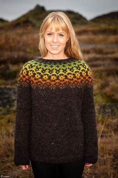 Icelandic Lopi Sweater  Autumn leaves by unneva on Etsy, $150.00