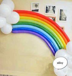 Regenbogen Luftballons // My Little Pony Party decor idea! My Little Pony Party, Fiesta Little Pony, Cumple My Little Pony, Trolls Birthday Party, Troll Party, Rainbow Birthday Party, Birthday Party Decorations, Birthday Parties, Balloon Birthday