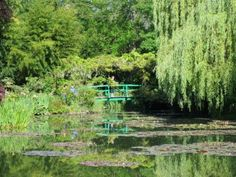 Giverny: Monet's Gardens, North East France is an inspiration to artists and gardeners alike. The gardens have been restored enjoy the  visual beauty of the the  water-lily ponds, pink house with green shutters, and the wisteria, willows and water-lilies that defined Monet as a world-class impressionist.