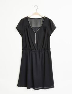 Robe mousseline noire
