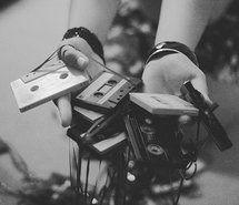 90's, b, black and white, cassette (Full Size)