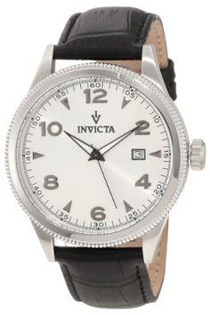 Invicta Men's 12198 Vintage Silver Dial Black Leather Watch Invicta http://www.amazon.com/dp/B007HN9626/ref=cm_sw_r_pi_dp_6Aenub0FECQFP