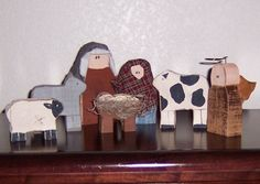 Chunky Primitive Nativity, (saw this crafters work at a recent craft fair, just LOVE her stuff! MUST take a look at everything!)