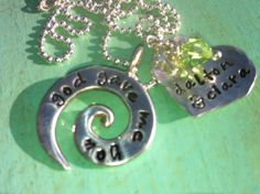 Personalized Necklace Hand Stamped Jewelry  Love by TBSoulSisters, $56.00