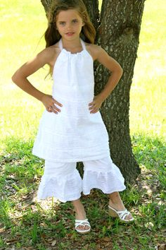 GIRLS 4 5 Custom boutique all WHITE summer by MyOnlySunshine01, $42.00